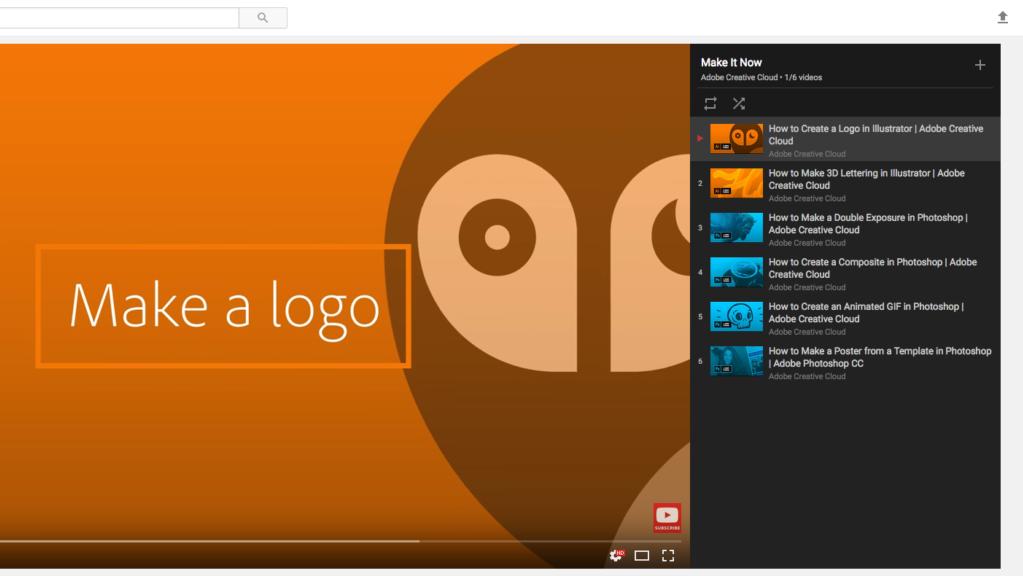 New Adobe Youtube Tutorials