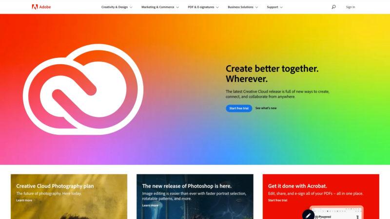 Adobe.com Sploosh!